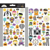 Doodlebug Candy Carnival Halloween Mini Icons Cardstock Stickers 6470