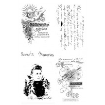 """7 Dots Studio Cold Country 4""""x6"""" Clear Stamp Set"""