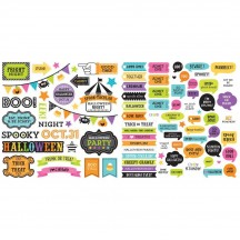 Doodlebug Candy Carnival Halloween Chit Chat Die-Cut Cardstock Ephemera 6525