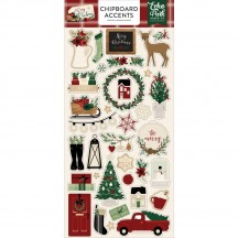 Echo Park A Cozy Christmas Self Adhesive Chipboard Accent Shape Stickers ACC189021