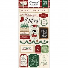 Echo Park A Cozy Christmas Self Adhesive Chipboard Phrases Stickers ACC189022