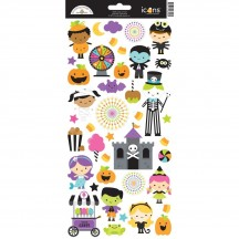 "Doodlebug Candy Carnival Halloween 6""x12"" Icons Cardstock Stickers 6558"