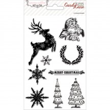 Teresa Collins Candy Cane Lane Clear Stamp Set - CCL125