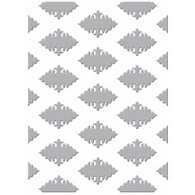"Couture Creations Ornate Diamonds 5""x7"" Universal Embossing Folder"