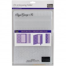 Couture Creations Royal George A4 Embossing Folder CO723615