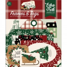 Echo Park A Cozy Christmas Frames & Tags Die Cut Cardstock Pieces ACC189025