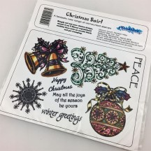 Creative Expressions U-Mount Rubber Stamps - Christmas Swirl