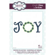 Creative Expressions Festive Collection - Christmas Joy Wreath Die by Sue Wilson CED3030