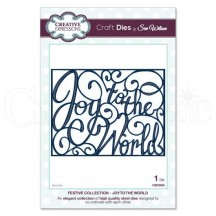 Creative Expressions Festive Collection - Joy To The World Die Set by Sue Wilson CED3034