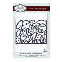 Creative Expressions Sue Wilson Festive Joy To The World Die Set CED3034