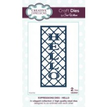 Creative Expressions Expressions Collection - Hello Die Set by Sue Wilson -  CED5401