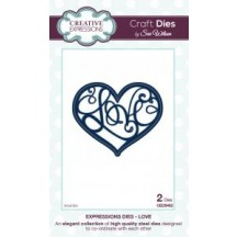 Creative Expressions Expressions Collection - Love Die Set by Sue Wilson CED5402