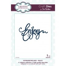 Creative Expressions Expressions Collection - Enjoy Die Set by Sue Wilson - CED5404