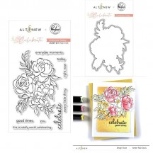 "Pinkfresh Studio & Altenew Celebrate Today 4""x6"" Clear Stamp & Die Set"