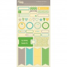 """Jillibean Soup Chilled Cucumber Soup 6""""x12"""" Cardstock Label Stickers JB0039"""