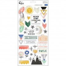 Pinkfresh Studio Escape the Ordinary Chipboard Stickers PFRC300617