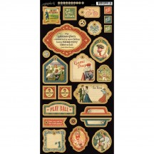 Graphic 45 Good Ol' Sport 2 Die-Cut Chipboard Elements Sheet 4500872