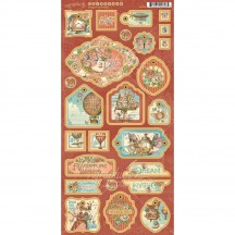 Graphic 45 Imagine Die-Cut Decorative Chipboard Sheet 4501719