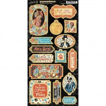 Graphic 45 Well Groomed Die-Cut Decorative Chipboard Sheet 4502268