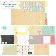 Webster's Pages Hello World Pre-Designed Chipboard Book MINB02