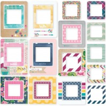 Simple Stories So Fancy Printed Chipboard Frames 6438