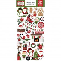 Echo Park Christmas Magic Self Adhesive Chipboard Accents Stickers CM254021