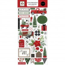 Carta Bella Home for Christmas Self Adhesive Chipboard Accents Stickers HFC139021