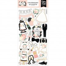 Echo Park Wedding Self Adhesive Chipboard Accents Stickers WED258021