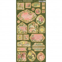 Graphic 45 Garden Goddess Die-Cut Decorative Chipboard Sheet 4501755