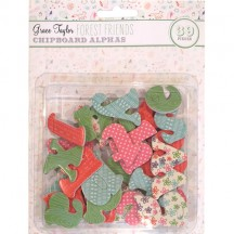 Grace Taylor Forest Friends Chipboard Alpha - GS2749