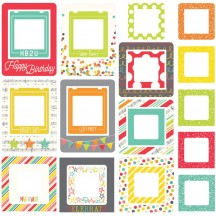 Simple Stories Let's Party Printed Chipboard Frames 5338