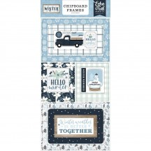 Echo Park Winter Self Adhesive Chipboard Frames Stickers WTR257065
