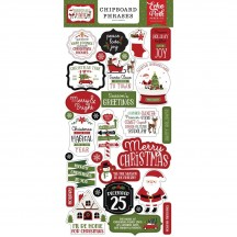 Echo Park Christmas Magic Self Adhesive Chipboard Phrases Stickers CM254022