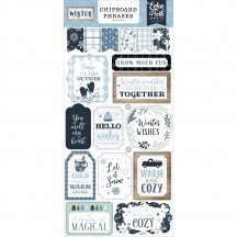Echo Park Winter Self Adhesive Chipboard Phrases Stickers WTR257022