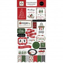 Carta Bella Home for Christmas Self Adhesive Chipboard Phrases Stickers HFC139022