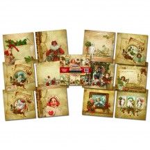 "Indigoblu Christmas Compendium 12""x12"" Mixed Media Card Stack 12 Sheets IND0183"