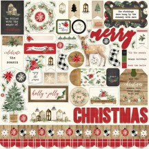 "Carta Bella Christmas 12""x12"" Element Shape Stickers CH89014"