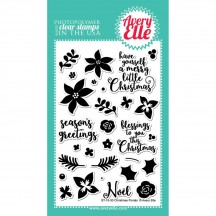 """Avery Elle Christmas Florals 4""""x6"""" Clear Stamp Set ST-15-30"""