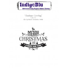 IndigoBlu Christmas Greetings Cling Mounted Rubber Stamp Sheet