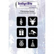 IndigoBlu Christmas Icons A6 Cling Mounted Rubber Stamp IND0197