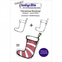 "IndigoBlu Christmas Stocking 5""x4"" CLear Stamp Set IND0203"