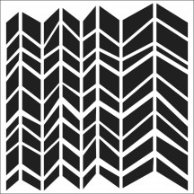 """The Crafters Workshop Chunky Chevron 12""""x12"""" Template - TCW322"""