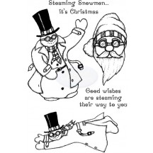 Lindsay Mason Clear Stamps - Steampunk Snowmen for Personal Impressions - CICSA6091