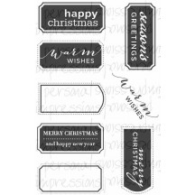 Paula Pascual Clear Stamps - Fancy Christmas Messages by Personal Impressions CICSA6253
