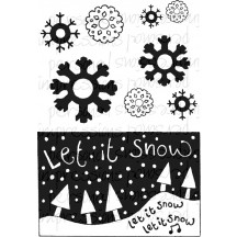 Crafty Impressions Let It Snow Clear Stamps CICSA6289