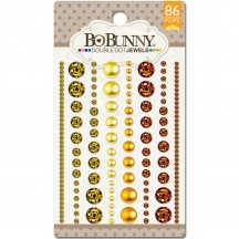 Bo Bunny DoubleDot Citrus Jewels Adhesive Gemstones & Pearls - 11707522