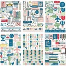 My Mind's Eye Cityscapes Travel Sticker Book CRD403