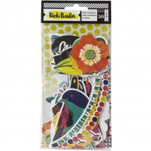 American Crafts Vicki Boutin Color Kaleidoscope Die-Cut Cardstock Ephemera 351107