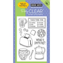 Hero Arts Clear Stamps - What's Perking CL416