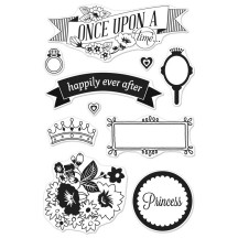 Hero Arts & Basic Grey Knee Highs Once Upon a Time Clear Stamp Set CL683